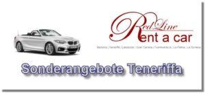 Mietwagen Sonderangebote von der Autovermietung Red Line Rent a Car Teneriffa