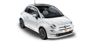 Mietwagen Lanzarote - Fiat 500. Autovermietung Red Line Rent a Car. Lanzarote