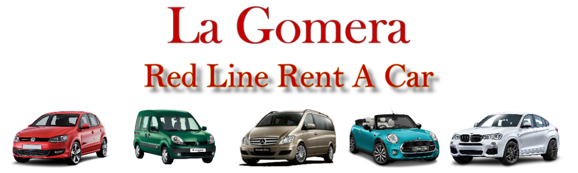 Red Line Rent a Car Banner La Gomera 2019